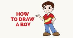How to Draw a Boy in a Few Easy Steps | Easy Drawing Guides