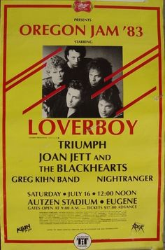 Loverboy Concert Poster https://www.facebook.com/FromTheWaybackMachine
