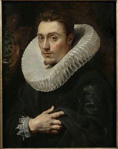 Portrait of a Young Man, c. 1613–15, Oil on panel    Peter Paul Rubens