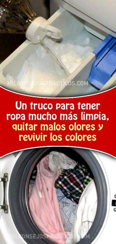Un truco maravilloso para tener ropa mucho más limpia, quitar malos olores y revivir los colores #lavarropa #lavadora #malosolores #malolor #revivircolores #lavar #ropa Cleaning Hacks, Cleaning Supplies, Power Clean, Declutter, Clean House, Feng Shui, Good To Know, Helpful Hints, Life Hacks