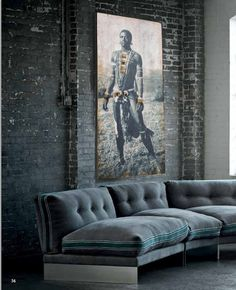 Panneau OSB 160 x 72cm Portait Zoulou magnifique. Décoration intérieure unique. Home decor.