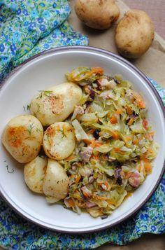 Polish Recipes, Polish Food, Christmas Appetizers, Sauerkraut, Pork Recipes, Japchae, Potato Salad, Food And Drink, Chicken