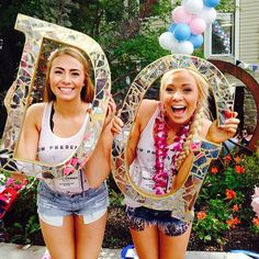 Delta Gamma at Washington State University . Love the broken glass letters!!