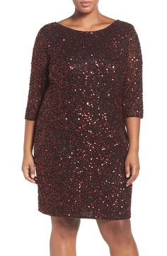 c56fefa0515 Pisarro Nights Draped Back Beaded Dress (Plus Size) available at  Nordstrom Plus  Size