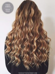 Use a wand and then lightly comb with fingers through hair to get beach waves!