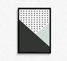 Digital download, Swiss cross printable, Modern minimalist, Scandinavian decor, Swiss Cross Printable, Scandinavian printable,Neutral decor