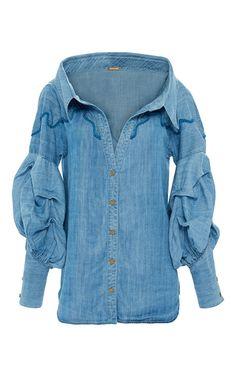 M'o Exclusive Maxmiliana Shirt by JOHANNA ORTIZ for Preorder on Moda Operandi