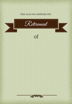 Retirement Flyer Template Free  Printable Retirement Invitations