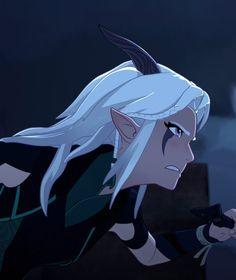 She is awesome Rayla Dragon Prince, Prince Dragon, Dragon Princess, Rayla X Callum, Elfa, Moon Shadow, Elements Of Art, Cute Cartoon Wallpapers, The Last Airbender