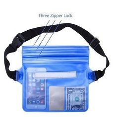 Pouch, Wallet, Sports Bags, Fanny Pack, Underwater, Layers, Phone Cases, Color Azul, Hiking