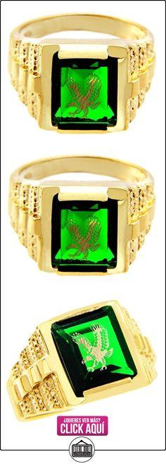 Pequeños Tesoros - Anillos Hombres Alianza De Boda 10 Kt Oro 471/1000 Oro - Verde Piedra Con Oro Águila  ✿ Joyas para hombres especiales - lujo ✿ ▬► Ver oferta: http://comprar.io/goto/B0127IWKPU