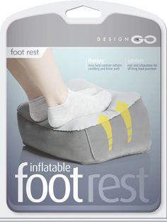 design go   inflatable travel foot rest