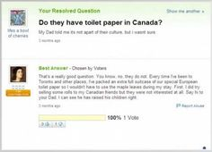 This question that will make all Canadians roll their eyes. | Community Post: 21 Yahoo Questions That Will Make You Laugh