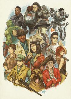Fallout 4 - Companions by KerriAitken.deviantart.com on @DeviantArt
