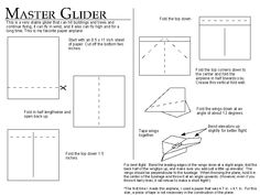 "The ""Master Glider"" paper airplane"