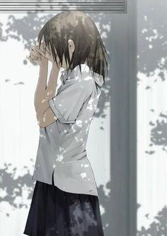 She reminds me of an anime character I created Sad Anime, Manga Anime, Anime Crying, Anime Life, Kawaii Anime, Anime School Girl, Girls Anime, Anime Art Girl, Manga Girl