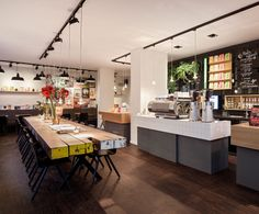 Interior Design Coffee Company Amsterdam By Ninetynine Table White