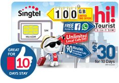 Singapore Best's Prepaid Tourist SIM: Packed with everything you need