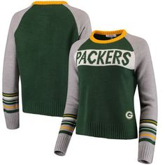 Green Bay Packers Touch by Alyssa Milano Women s Team Spirit Pullover  Sweater – Green Gray 29f94af9c