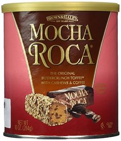 Brown & Haley Mocha Roca: The Original Buttercrunch Toffee with Cashews & Coffee Toffee Candy Bar, Toffee Popcorn, Toffee Bars, Toffee Cookies, Chocolate Rocks, Chocolate Babies, Chocolate Toffee, Melting Chocolate, Toffee Cake Recipe