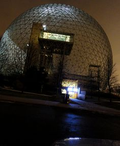 Biosphère, Quebec, Canada by Richard Buckminster Fuller, Richard Buckminster Fuller, Dome Homes, Quebec, Montreal, Walls, Canada, Architecture, Travel, Image