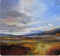 Loch Laidon – David Atkins (love the thick color mixes) - Best Painting Acrylic 2019 Abstract Landscape Painting, Seascape Paintings, Landscape Art, Landscape Paintings, Scenery Paintings, Country Paintings, Night Scenery, Art And Illustration, Painting Inspiration