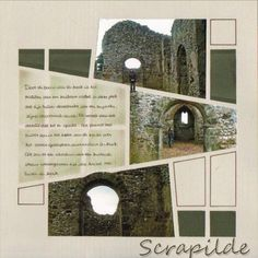 Scrapilde - sjabloon vitrail Scrapbooking Layouts, Scrapbook Pages, Stained Glass, Polaroid Film, Crafts, Template, Photograph Album, Manualidades, Scrapbook Layouts