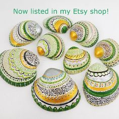 "55 Likes, 6 Comments - Florence Pindrys (@butterfly.rouge) on Instagram: ""My hand painted seashells are now listed in my online Etsy shop! The link is in my…"""