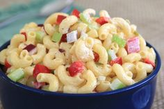 Classic Macaroni Salad: Whether for a cook-out or weeknight meal, this classic dish is a real crowd-pleaser. The recipe easily doubles and it keeps well in the refrigerator for several days. Classic Macaroni Salad, Pork Sliders, Pasta Salad, Salad Recipes, Macaroni And Cheese, Favorite Recipes, Stuffed Peppers, Healthy, Ethnic Recipes