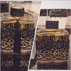 I see a soap idea Wine Bottle Crafts, Bottle Art, Sewing Room Organization, Antique Perfume Bottles, Altered Bottles, Craft Wedding, Bottles And Jars, Handmade Decorations, Diy Home Decor