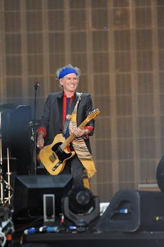 The legendary guitarist 'Keith Richards' from the band 'The Rolling Stones' on stage at ‎#StonesHydePark