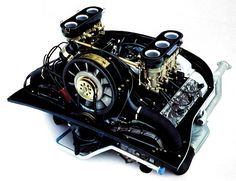 2.0-litre 6-cylinder Porsche engine with dry sump lubrication