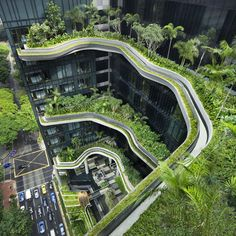 10 unique hotel designs - PARKROYAL on Pickering by WOHA | architecture | dezeen for my honeymoon :)