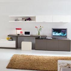 Grey White Modern Home Office
