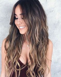 the trendy of balayage ombre hair color – Page 2 Hair Goals Color, Auburn Hair, Brunette Hair, Blonde Hair, Hair Highlights, Balayage Hair, Bayalage, Dark Hair, Brown Hair
