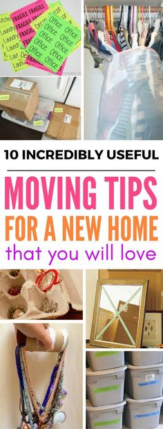 10 Incredibly Useful Tips For Moving Into A New Home - Need ideas and hacks on how to store your things while moving? This site has the BEST moving tips.