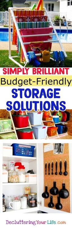 Garage Organization Diy Dollar Stores To Get 38 Ideas Garage Organisation Diy-Dollar-Läden Zu Bekommen 38 Ideen Craft Storage Solutions, Home Organization Hacks, Garage Organization, Organizing Ideas, Garage Storage, Organizing Clutter, Organization Station, Household Organization, Bedroom Organization