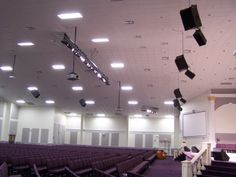 Front and Rear speaker cabinets provided and installed by CSD at Sanctuary of Praise in Orlando, FL