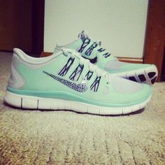 low priced f95b7 d69a4 Nike Free 5.0 Swarovski Rhinestones Tiffany Blue Nike Free Runners, Cheap  Nike, Nike Shoes