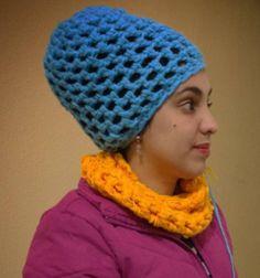 Touca ou gorro de crochê, feito com o dedo (sem agulha) max crochê