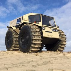 The Sherp is a true all-terrain vehicle, able to drive over large rocks, fallen trees, float through the water, and more with nearly two feet of ground clearance!