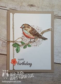 Birds and Blooms Watercolor card