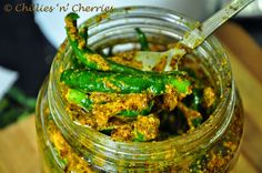 """chillies 'n' cherries: """"Chilli & ginger pickle - Indian ishtyle :) """" #pickle #chillies #ginger #spices #incredibleIndia"""