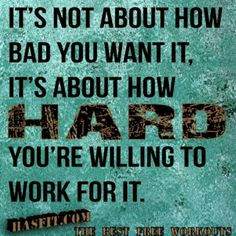 The harder the better!