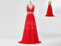 Sexy Backless Prom Dress Long Prom dress Red Prom by AntsBridal