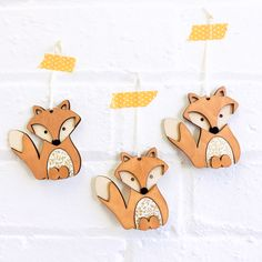 Made from Birch wood, coloured with ink with Japanese Chiyogami paper. Fox Decor, Wooden Shapes, Craft Materials, Craft Gifts, Birch, Snoopy, Japanese, Ink, Decoration