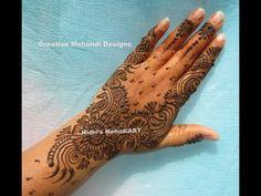 YouTube #curly #arabic #henna #mehndi #design for #back #hand