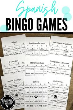 Spanish 1 Games and Activities | Find 9 Spanish bingo games to keep students engaged in Spanish class! Fun way to learn Spanish vocabulary! Teachers Fun In Spanish, Telling Time In Spanish, High School Spanish, Spanish Class, How To Speak Spanish, Teaching Spanish, Spanish Teacher, Learn Spanish, Teaching French