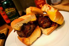 Spicy Barbeque Bourbon Whiskey Sliders!