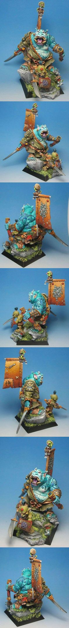 Dai-Bakemono Nr. 3: One of the neatest concepts within Rackham minis is the Japanese themed goblins. A seamless mashup of feudal japan and dark creatures!
